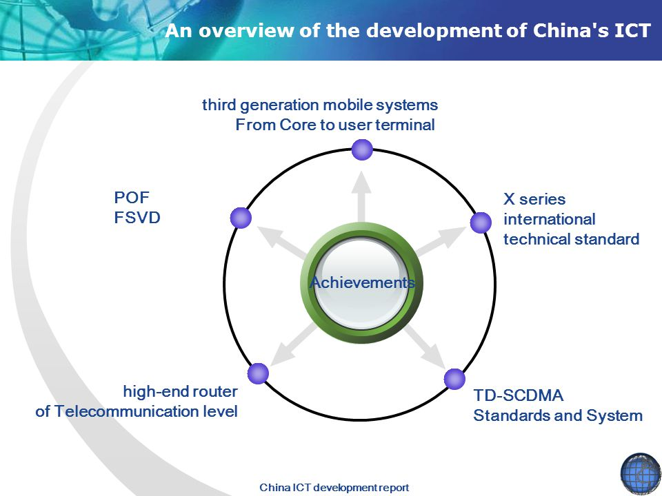 An overview of the development of China s ICT