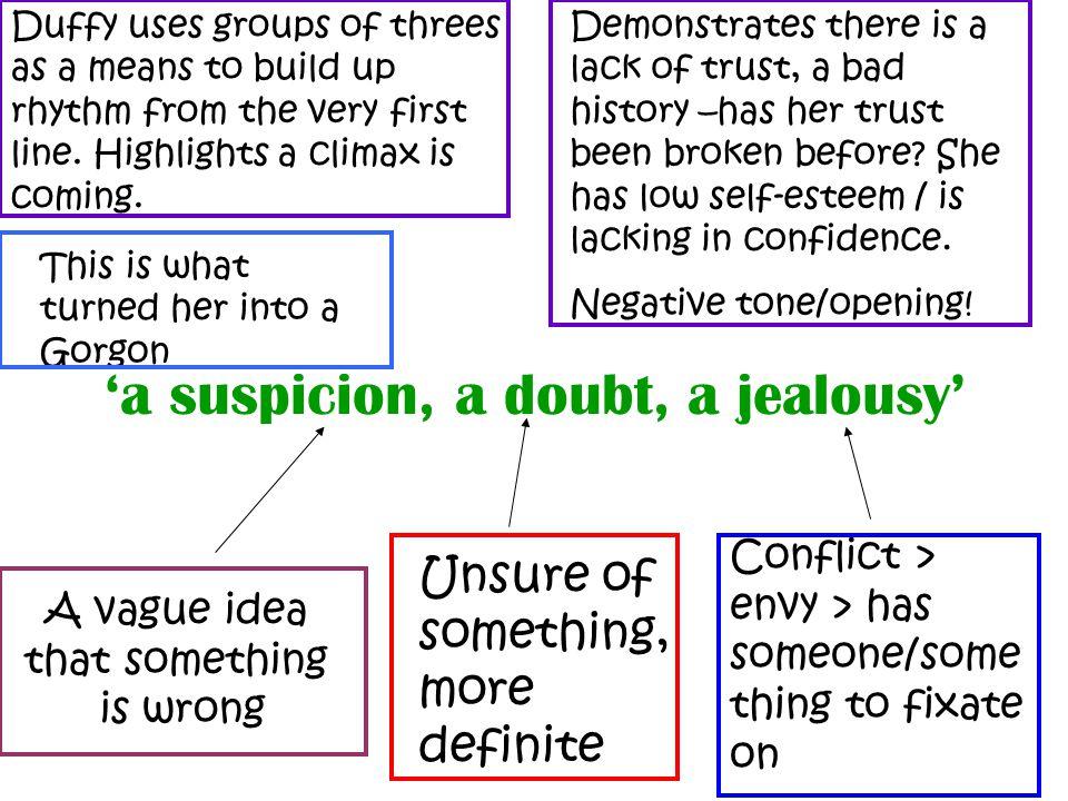 'a suspicion, a doubt, a jealousy'