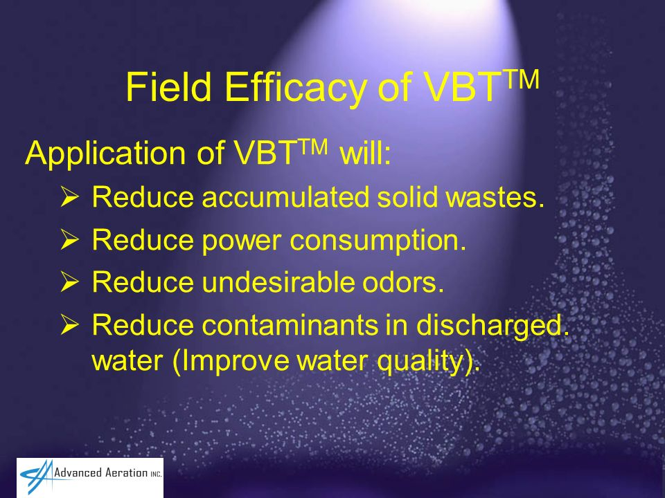 Field Efficacy of VBTTM