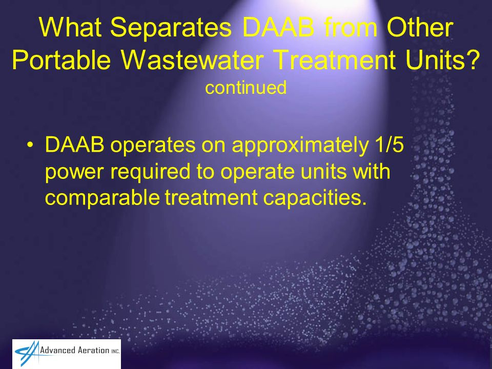 What Separates DAAB from Other Portable Wastewater Treatment Units