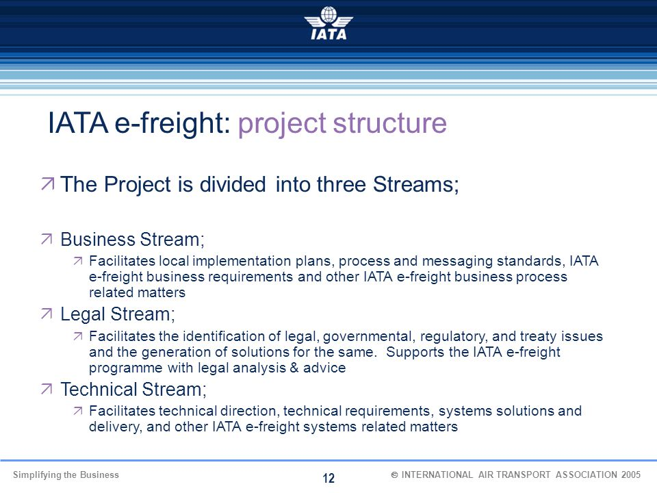 IATA e-freight: project structure