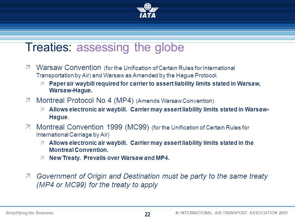 Treaties: assessing the globe
