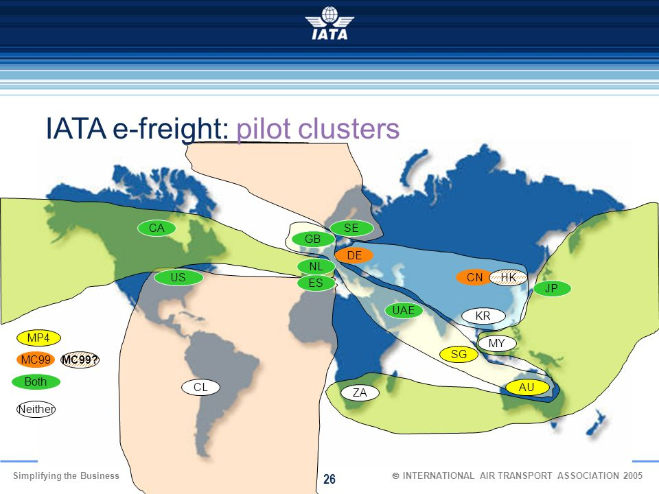 IATA e-freight: pilot clusters