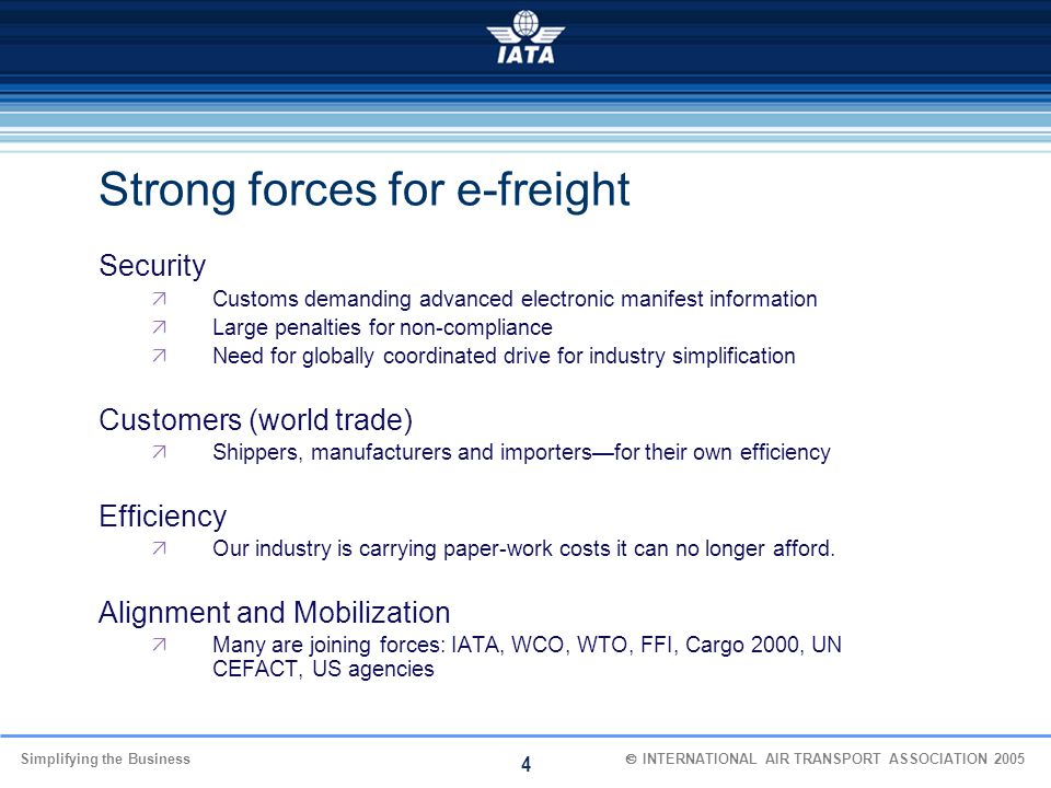 Strong forces for e-freight