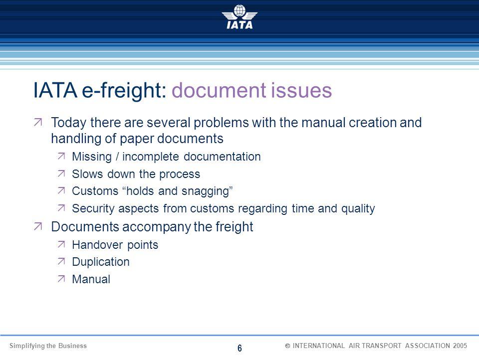 IATA e-freight: document issues