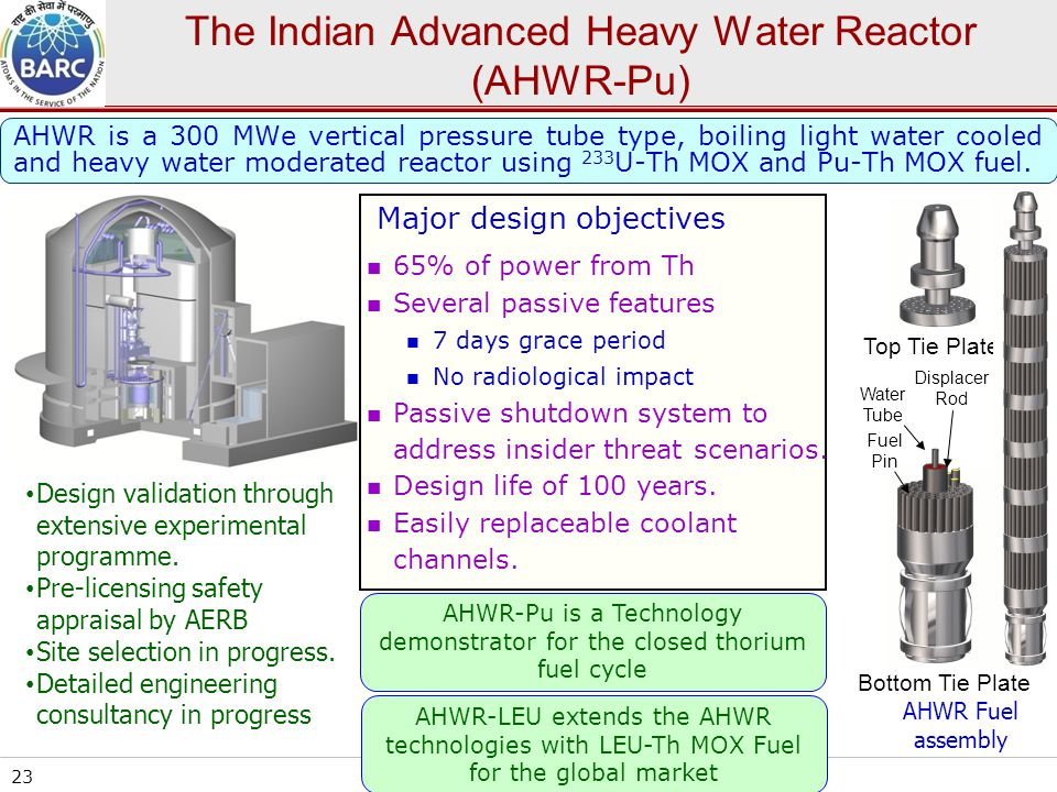 The Indian Advanced Heavy Water Reactor (AHWR-Pu)