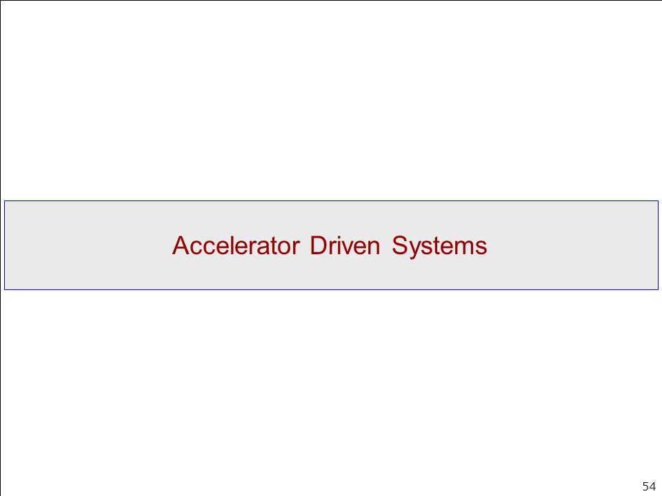 Accelerator Driven Systems
