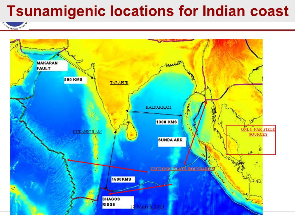Tsunamigenic locations for Indian coast