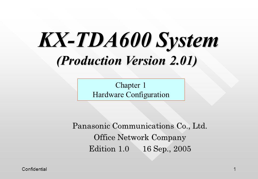 KX-TDA600 System (Production Version 2.01)
