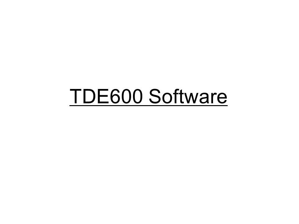 TDE600 Software