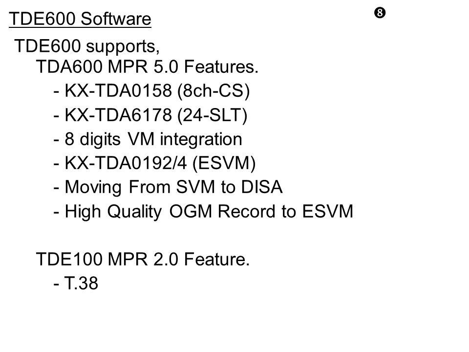 - 8 digits VM integration - KX-TDA0192/4 (ESVM)