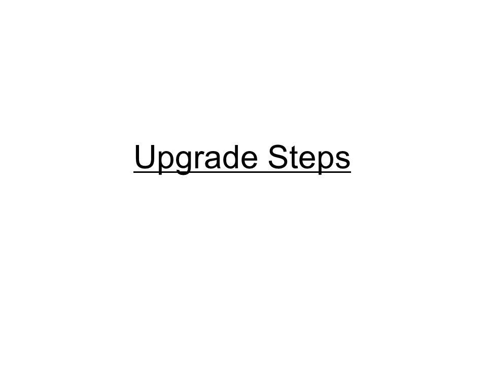 Upgrade Steps