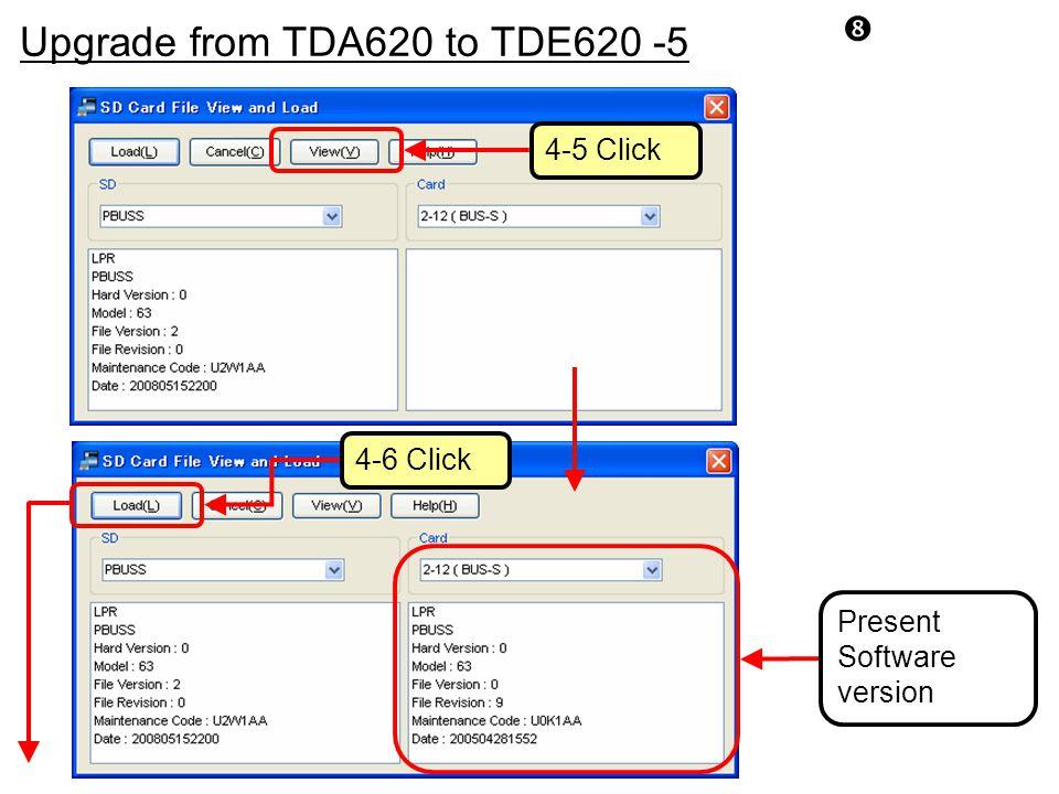 Upgrade from TDA620 to TDE620 -5