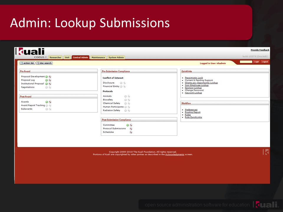 Admin: Lookup Submissions