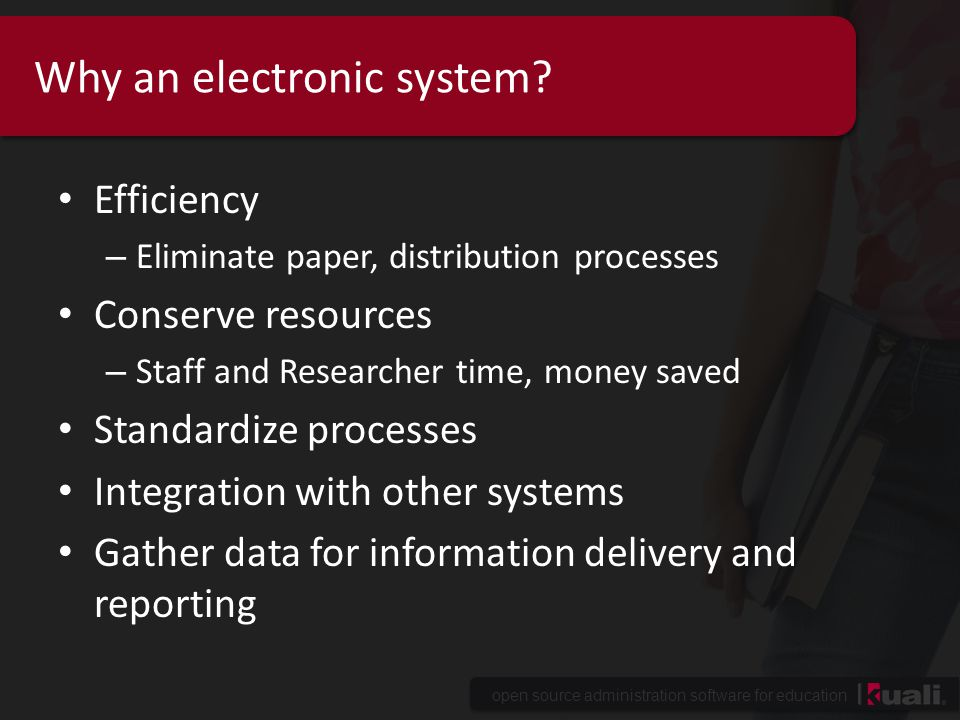 Why an electronic system