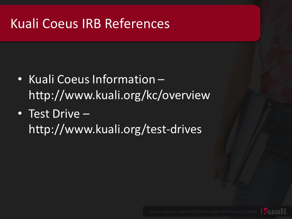 Kuali Coeus IRB References