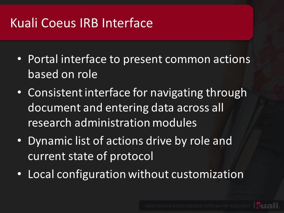 Kuali Coeus IRB Interface