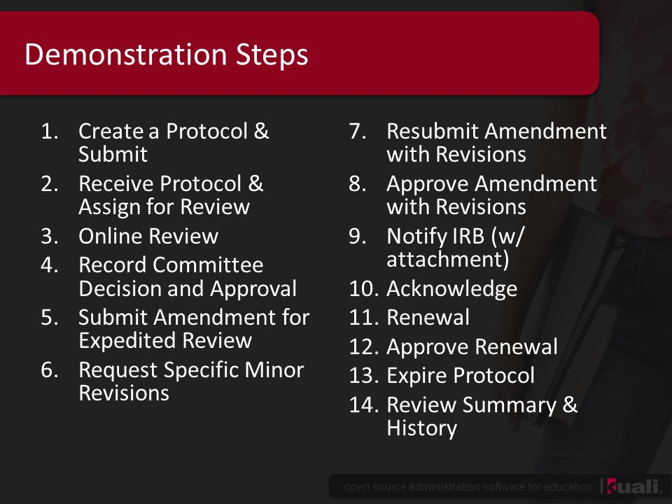 Demonstration Steps Create a Protocol & Submit