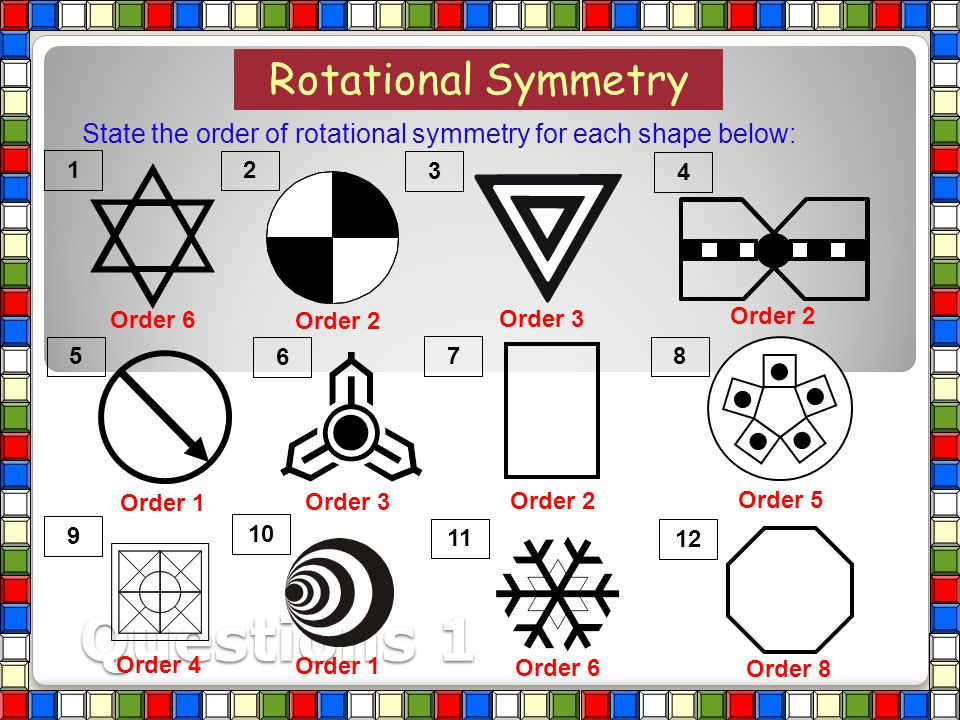 Questions 1 Rotational Symmetry