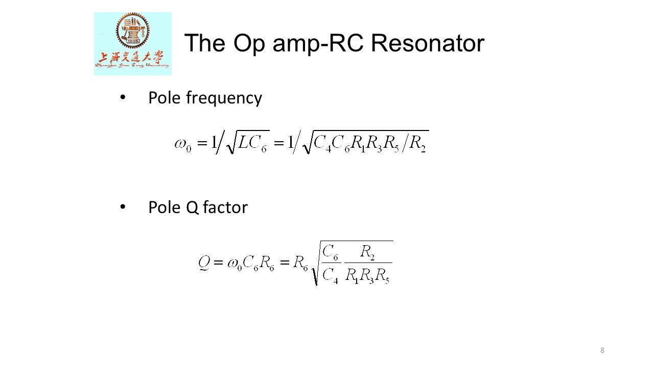 The Op amp-RC Resonator