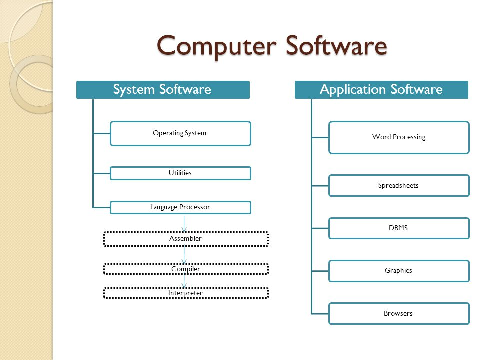 Computer Software System Software Application Software