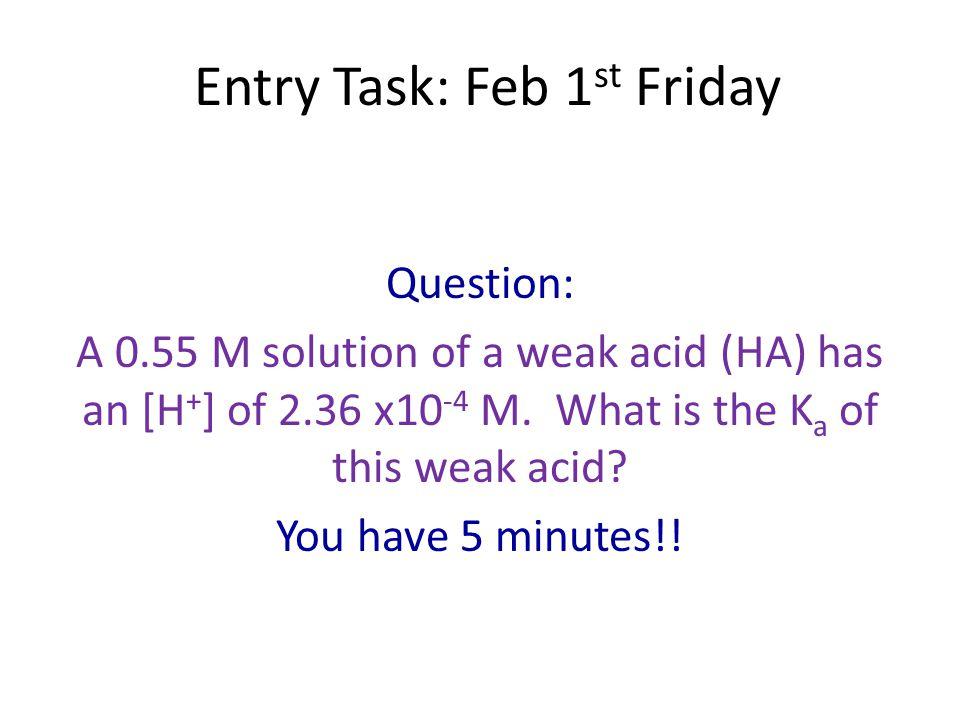 Entry Task: Feb 1st Friday