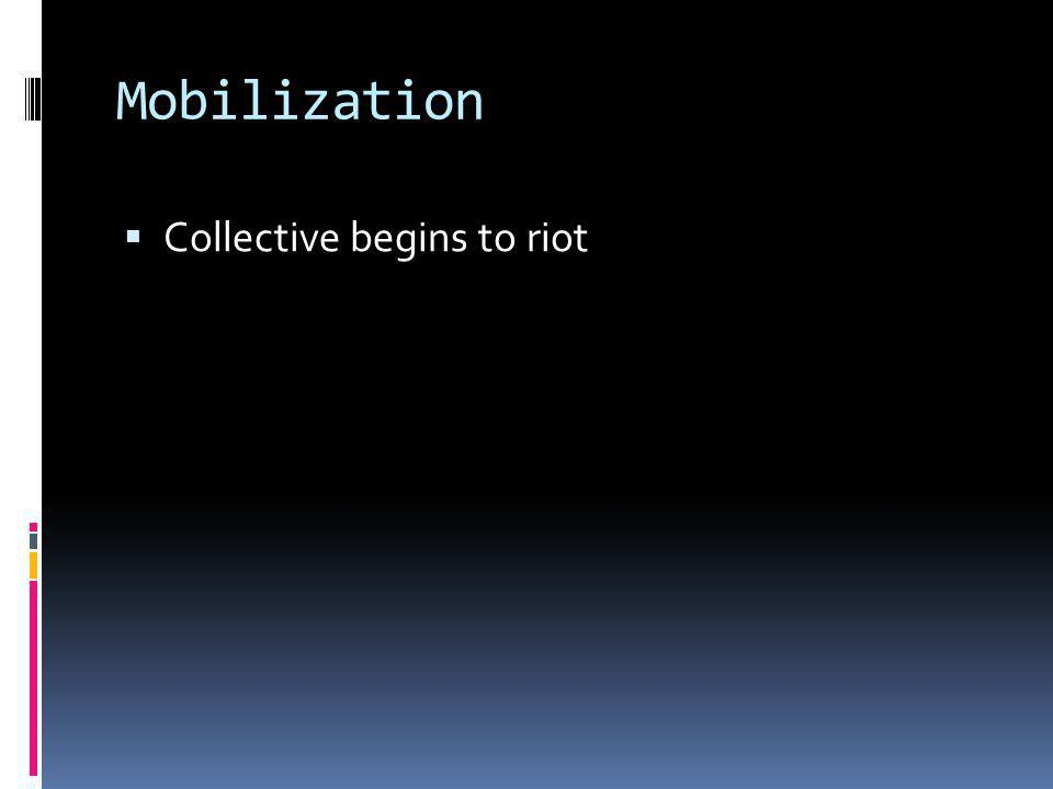 Mobilization Collective begins to riot