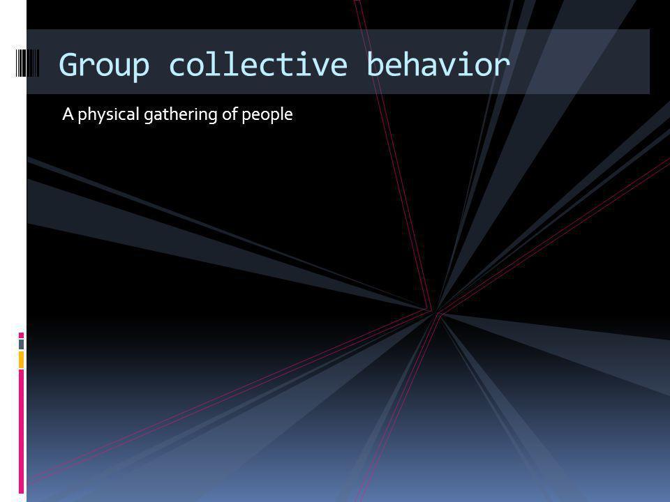 Group collective behavior