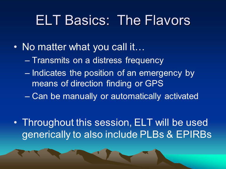 ELT Basics: The Flavors