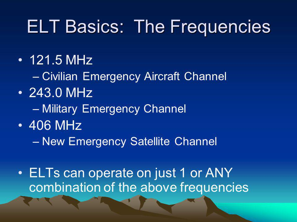 ELT Basics: The Frequencies