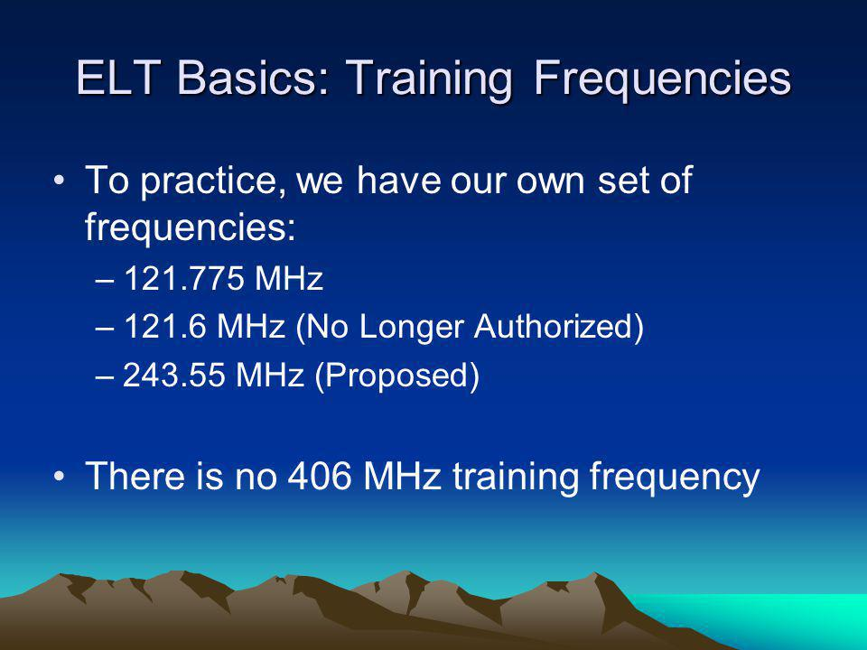 ELT Basics: Training Frequencies