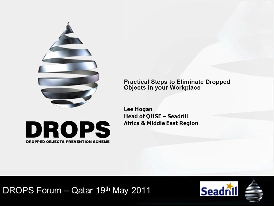 DROPS Forum – Qatar 19th May 2011