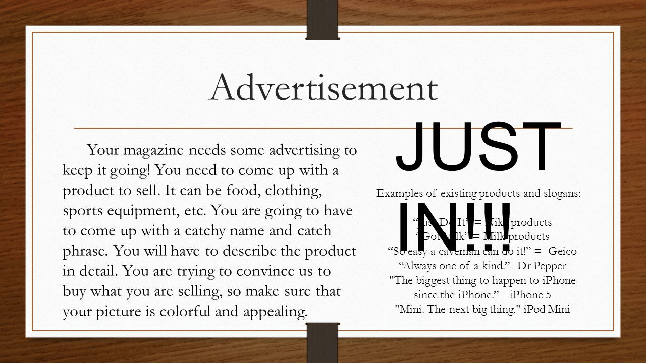 Advertisement JUST IN!!!