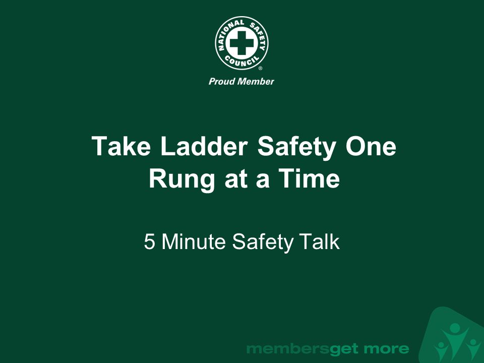 Take Ladder Safety One Rung at a Time
