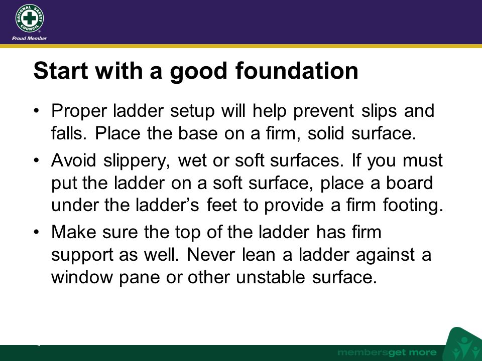 Start with a good foundation