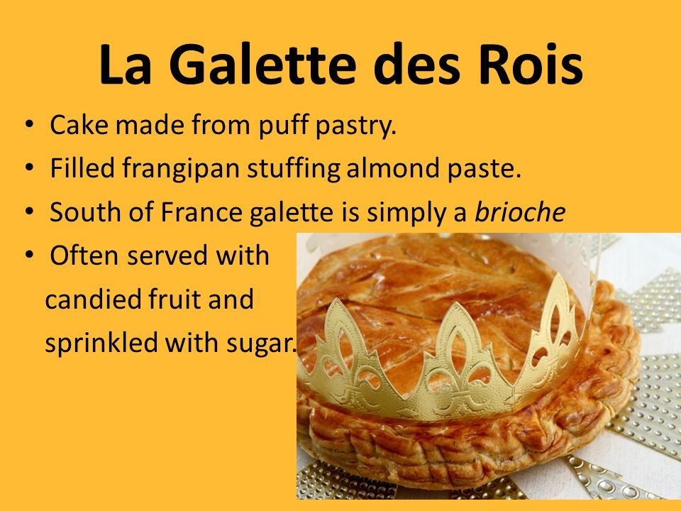 La Galette des Rois Cake made from puff pastry.