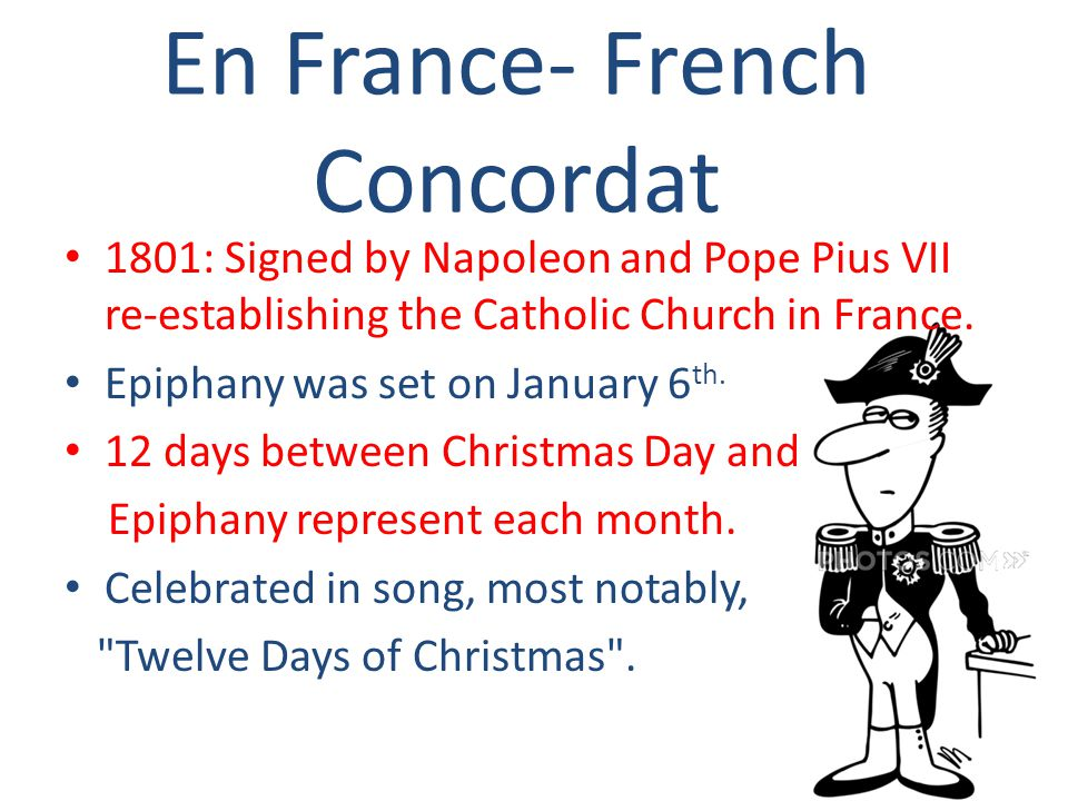 En France- French Concordat