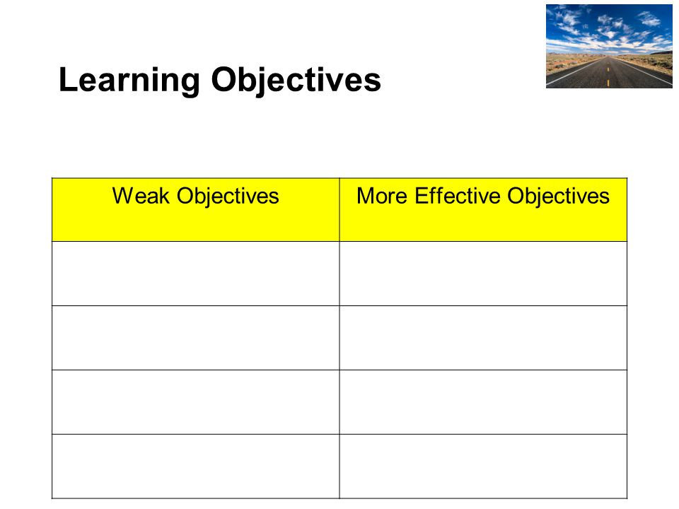 More Effective Objectives