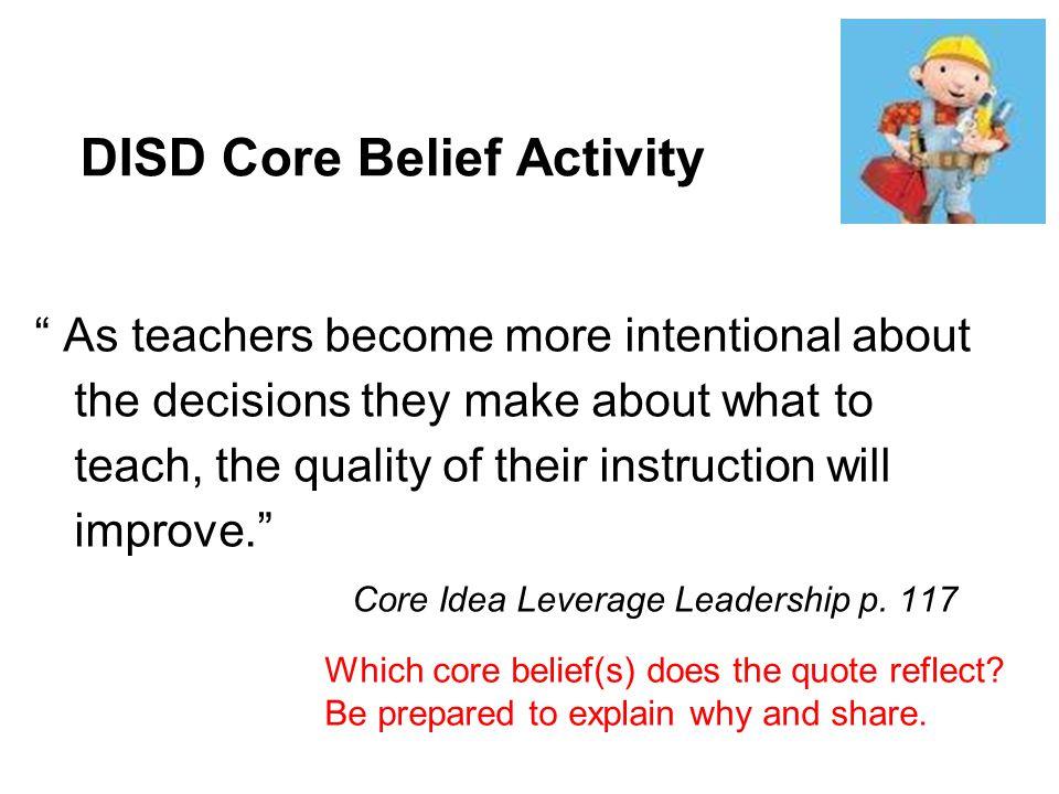 DISD Core Belief Activity