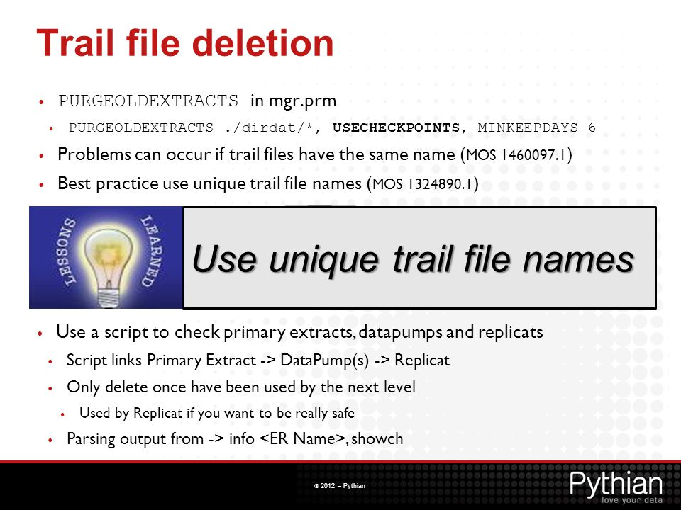Use unique trail file names