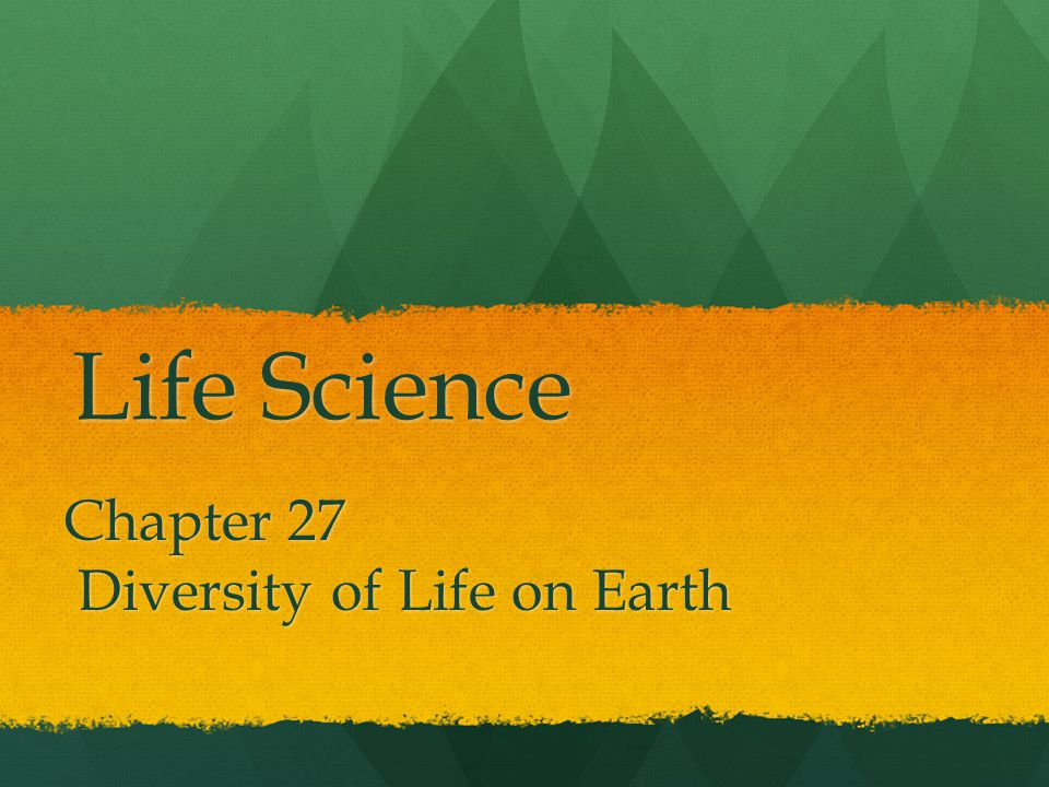 Chapter 27 Diversity of Life on Earth