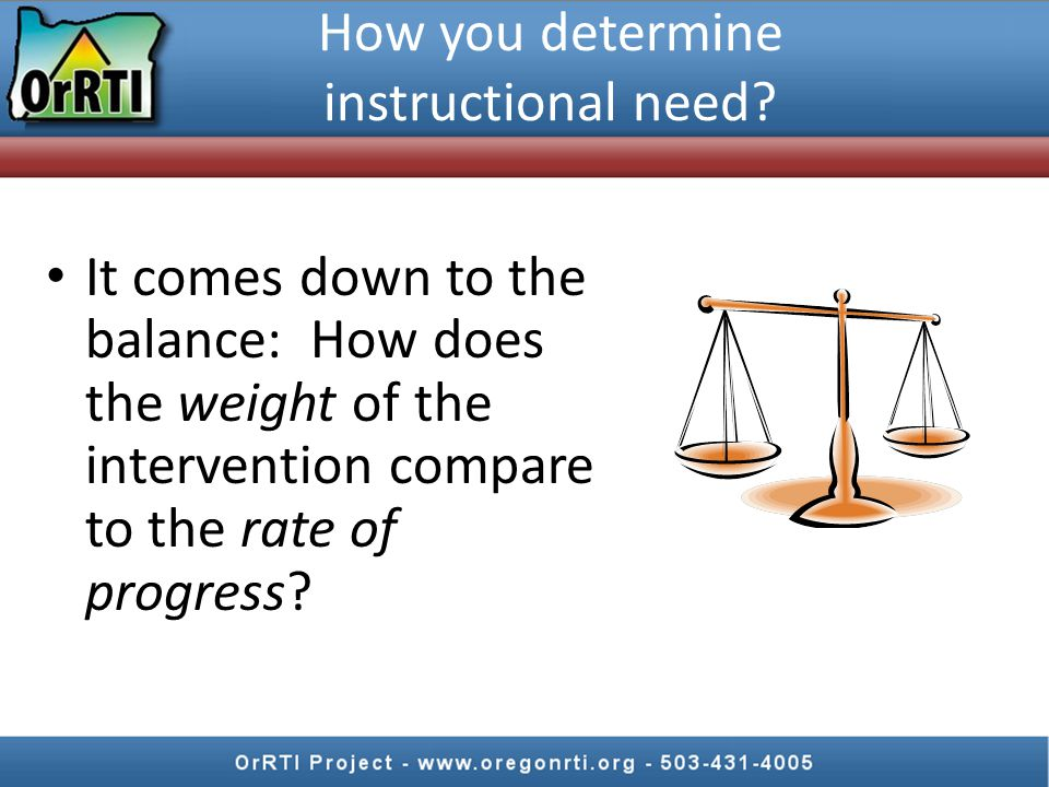 How you determine instructional need