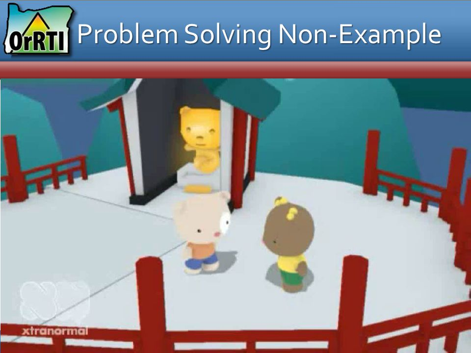 Problem Solving Non-Example
