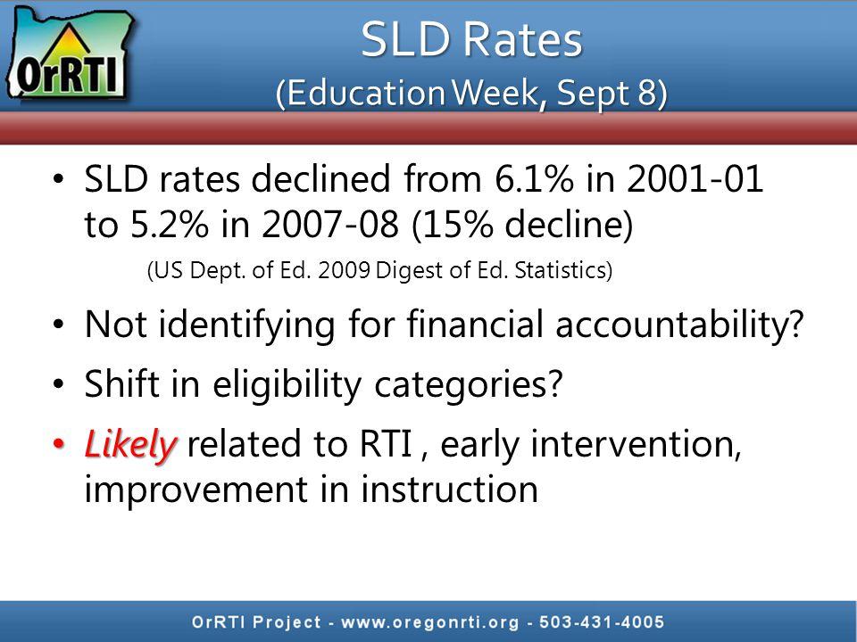 SLD Rates (Education Week, Sept 8)