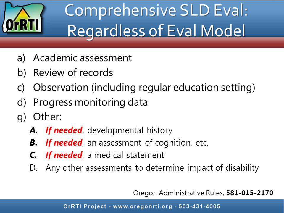 Comprehensive SLD Eval: Regardless of Eval Model