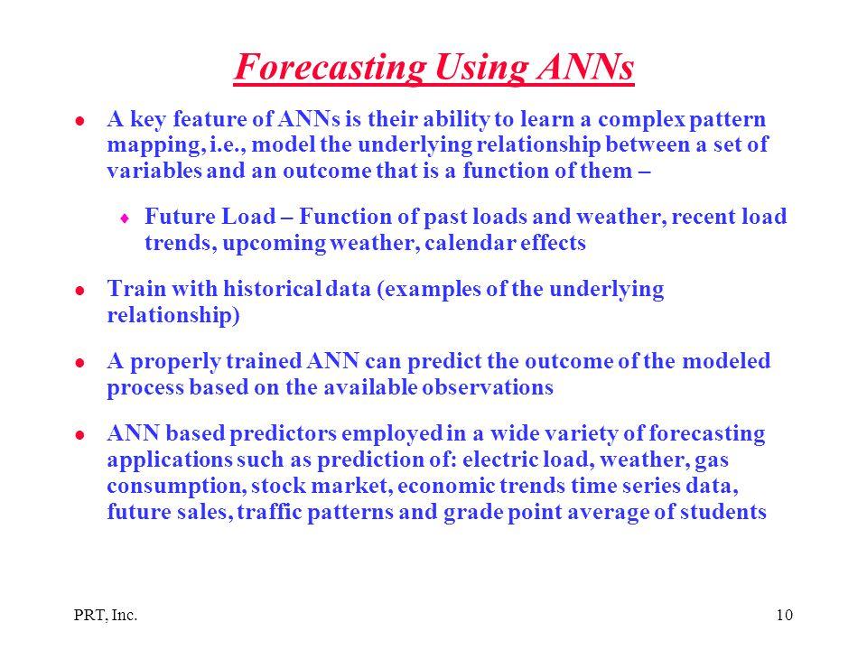 Forecasting Using ANNs