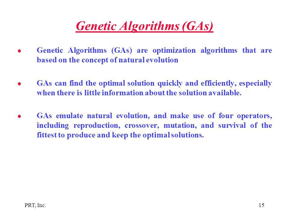 Genetic Algorithms (GAs)