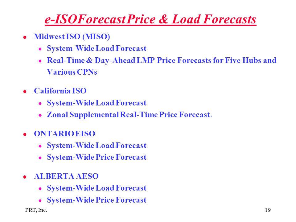 e-ISOForecast Price & Load Forecasts