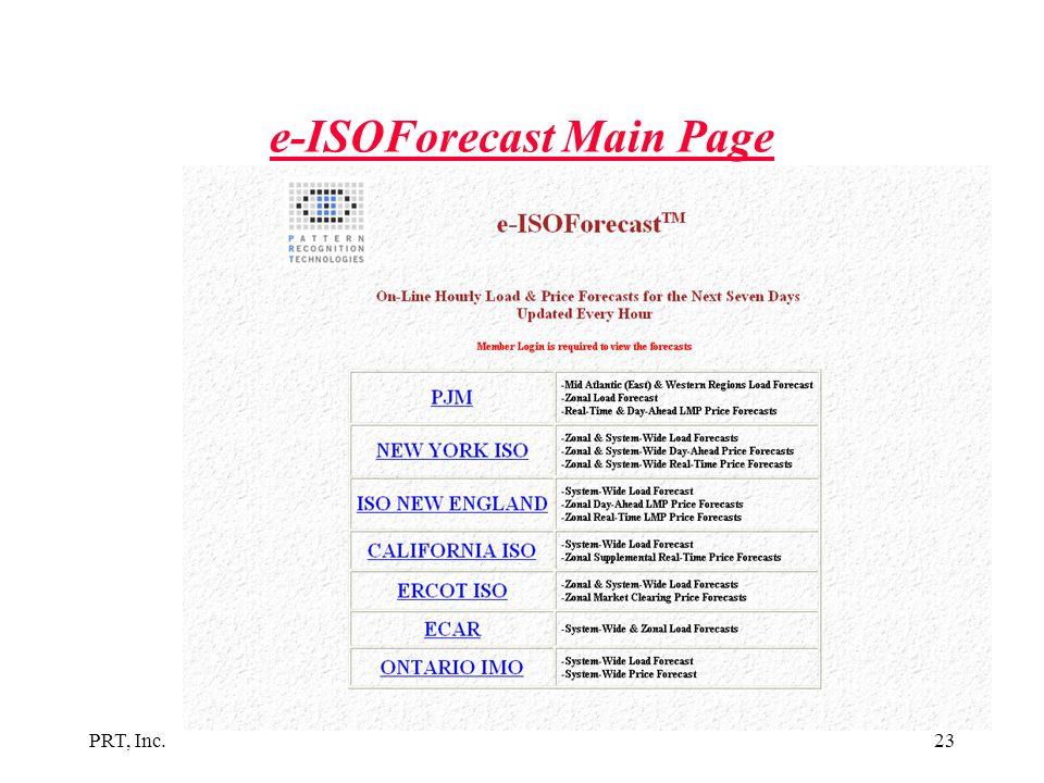 e-ISOForecast Main Page