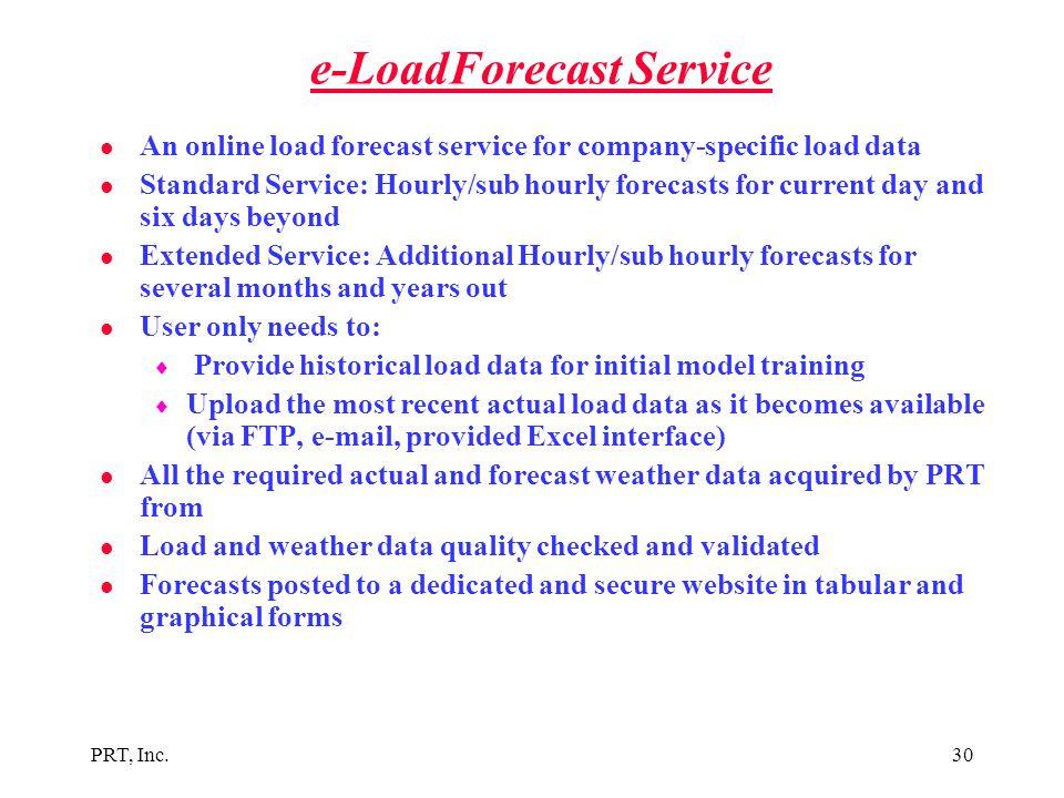e-LoadForecast Service